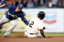 Crawford homers, but Giants are a step (or five) slow in loss to Brewers
