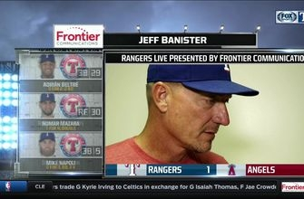 Jeff Banister on tough night of pitching in loss to Angels