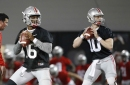 Ohio State backup QB Burrow sidelined with broken hand