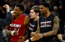 Hassan Whiteside and Udonis Haslem on NBA2K All-Time Miami Heat team