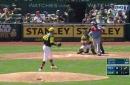 WATCH: Adrian Beltre knocks in 2 RBI in 1st inning vs. Athletics