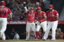 Cliff Pennington's grand slam rallies Angels against Oakland A's