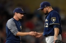 Notes: Matt Garza removed from Sunday start as Brewers go to fluid rotation in final month