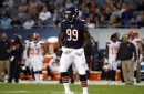 Bears' Lamarr Houston and Victor Cruz out with knee injuries