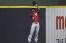 Washington Nationals' closer Sean Doolittle couldn't bear to watch long, game-ending fly ball..