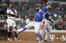 Braves get rocked by the Rangers