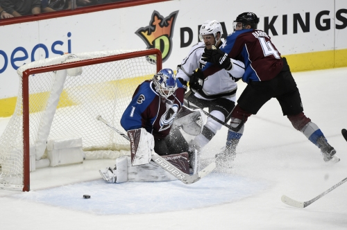 Avalanche goalie Semyon Varlamov moving with the cat-like quickness after second hip surgery