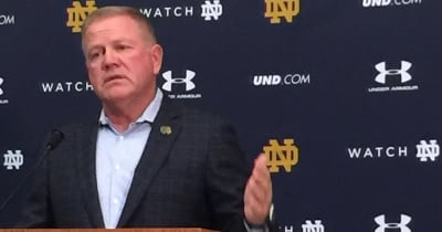 LOOK: Brian Kelly has contentious exchange with reporter following Georgia loss
