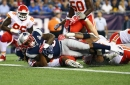 Downs, distances, personnel groups and results behind Mike Gillislee's three-TD Patriots premiere