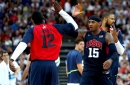 Carmelo Anthony joins James Harden and Chris Paul for a pickup game