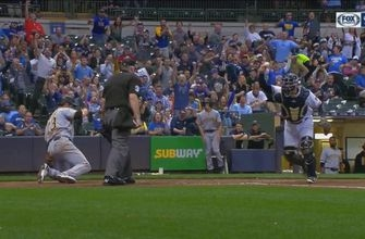 WATCH: Brett Phillips cuts down runner with rocket to home