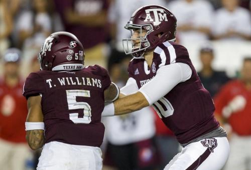 Report: Texas A&M quarterback Hubenak to miss ULL game with injury