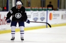 Newcomer Rosen gets in his first rep as a Maple Leaf