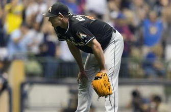 Marlins bullpen implodes late in loss to Brewers