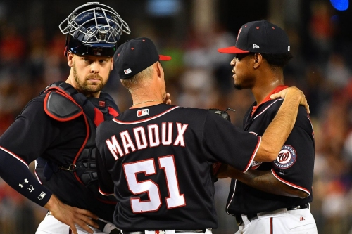 Edwin Jackson struggles; Washington Nationals lose 7-0 to LA Dodgers; Dusty Baker thinks it's an easy fix...