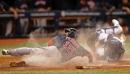 Sox Plate Seven In Fifteenth, Edge Devil Dogs, 13-6