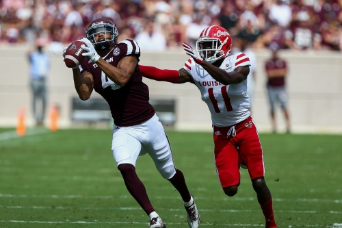 Texas A&M scores 31 unanswered second half points to complete comeback 45-21 win over ULaLa