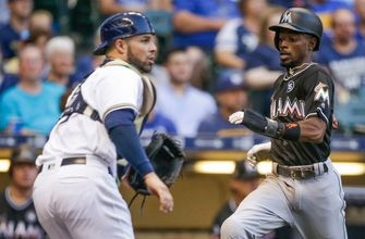 Marlins grab control early, end slide with win over Brewers