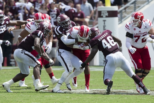 Robert Cessna grades the Aggies: Subpar first half, excellent second half against ULL results in average marks