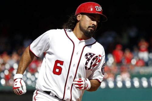 Washington Nationals' lineup for the series finale with the Los Angeles Dodgers on ESPN's Sunday Night Baseball...