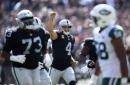 Raiders with highest scoring game in Reggie McKenzie era, Carr surpasses Flores, other superlative in win over Jets
