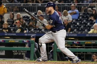 Suter, Braun help Brewers beat Bucs to gain in playoff race (Sep 18, 2017)