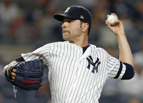 Jaime Garcia, Aroldis Chapman solid as Yankees beat Twins, 2-1