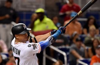 Stanton hits 55th homer, Marlins rally in the 5th to blow out Mets