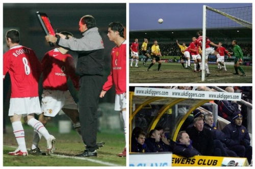 The night Manchester United heroes Cristiano Ronaldo and Wayne Rooney were shocked by Burton