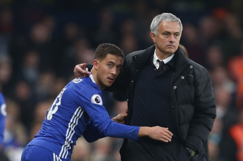 Chelsea star Eden Hazard aims thinly-veiled dig at Manchester United boss Jose Mourinho