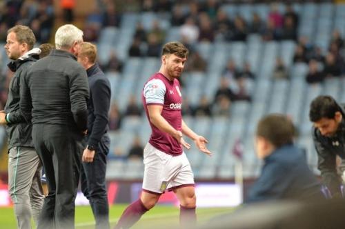 Steve Bruce on Aston Villa striker Scott Hogan's reaction to being taken off against Middlesbrough