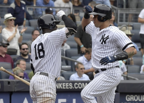 Yankees bats bail out Luis Severino to complete sweep of Twins