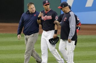 Indians OF Brantley's postseason in jeopardy due to injury