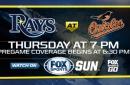 Preview: Rays kick off season's final road trip in Baltimore