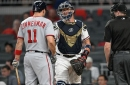 Washington Nationals drop series finale to R.A. Dickey and the Atlanta Braves, 3-2: Nats can't sweep in SunTrust Park...