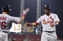 Cardinals complete sweep of Reds, behind 14 hits (and 7 walks) in 8-5 win