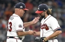 Atlanta Braves pitcher R.A. Dickey may have hinted at retirement