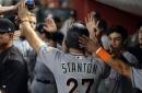 WATCH: Giancarlo Stanton inches closer to Maris, blasts 57th HR