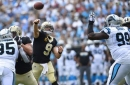 Easy Brees-y: Drew Brees heaves a 40-yard TD strike to Ted Ginn Jr. in the Saints' 34-13 rout over the Panthers
