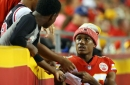 Chiefs' Justin Houston getting on Marcus Peters after personal foul