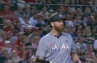 WATCH: Dan Straily gets a surprise double after his liner stays fair