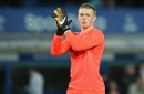 Everton's Jordan Pickford on why there was nothing lucky about his save from Jermain Defoe