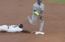 WATCH: Morrison makes a perfect delivery to Hech for a double play