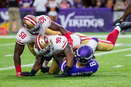 Robert Saleh on extra rest for defense, DeForest Buckner, Elvis Dumervil, pass rush philosophy