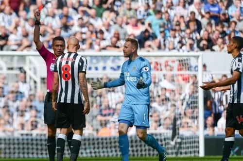 Newcastle United boss Rafa Benitez gives Jonjo Shelvey some sound advice