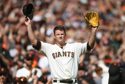 Matt Cain throws five shutout innings in emotional Giants finale