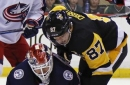 Calvert, Bjorkstrand help Blue Jackets top Penguins 3-0