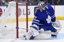Watch: The great tape caper in tonight's game as Andersen needs to redo his blue