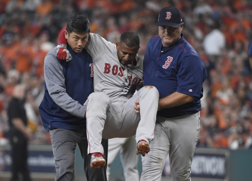 Ex-San Francisco Giant carried off field in ALDS with knee injury