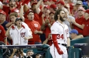 Washington Nationals' bats finally wake up! Bryce Harper and Ryan Zimmerman homer in eighth in 6-3 win over Chicago Cubs! NLDS now 1-1...
